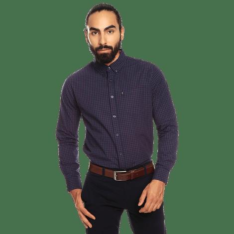 camisa-para-hombre-manga-larga-cuadros-down-estampado-ugm-night-sky-and-white-checks