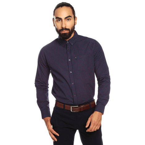 camisa-para-hombre-manga-larga-cuadros-down-estampado-ugm-night-sky-and-white-checks