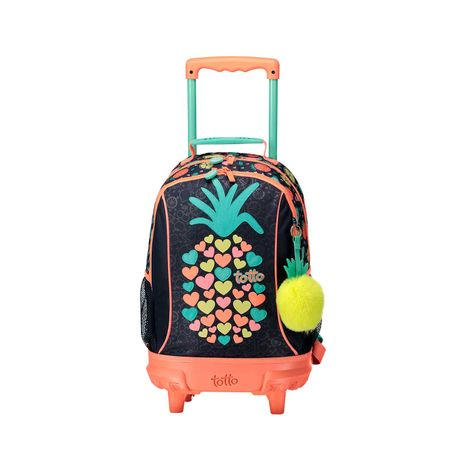 Mochila-Mediano-Rueas-para-Niña-Bomper-Tropical-Fruit-azul-tropical-fruit