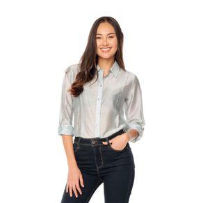 Camisa-para-Mujer-Manga-Larga-Tulan-verde-tulan-aquifer-mini-stripes