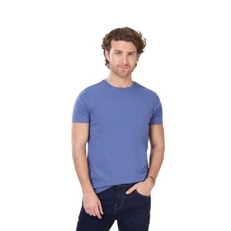 Camiseta-Para-Hombre-Color-Azul-Unicolor-Nepal