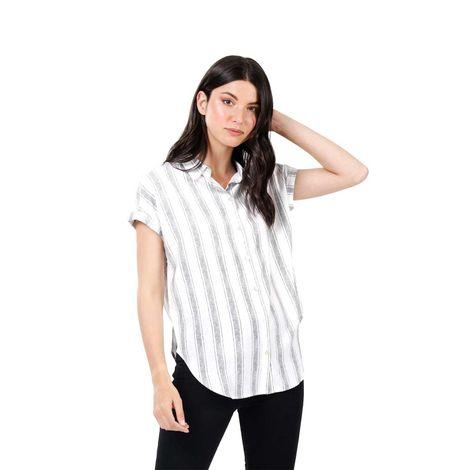 Camisa-Para-Mujer-En-Rayas-Lajas